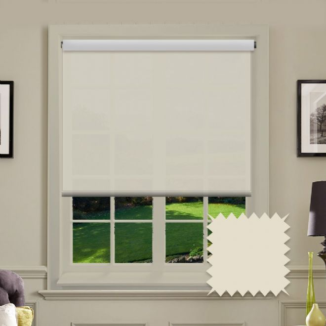 Cream Roller Blind - Astral Oyster Plain - Just Blinds